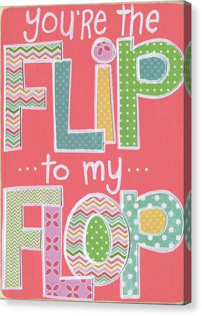 Sweet Tea Canvas Print - Flip To My Flop by Alli Rogosich