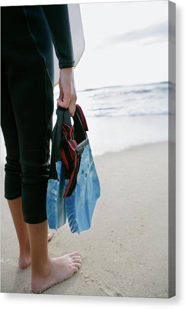 Bodyboard Canvas Print - Flippers by Gustoimages/science Photo Library