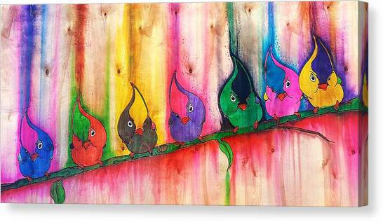 Titmice Canvas Print - Flippin' Da' Berd by Errick Freeman