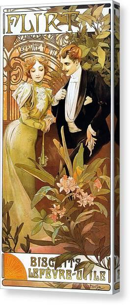 Flirt Canvas Print