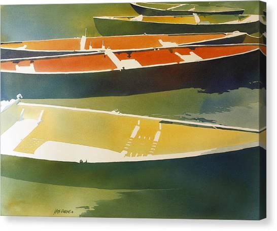 Jenny Lake Canvas Print - Floaters by Kris Parins