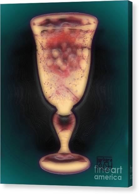 Floating Beverage Glass Canvas Print