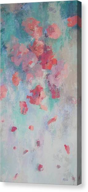 Floating Flowers Painting Canvas Print