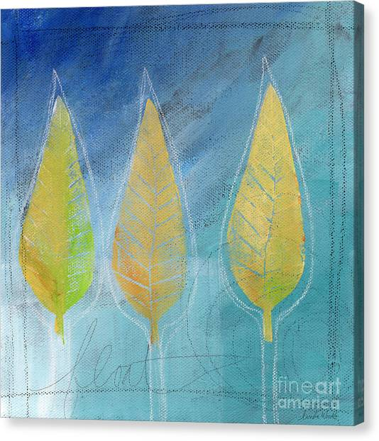 Abstract Art Canvas Print - Floating by Linda Woods