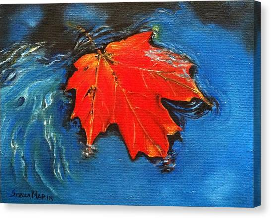 Floating Maple Reference Canvas Print