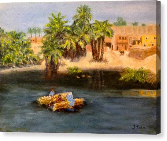 Floating On The Nile Canvas Print
