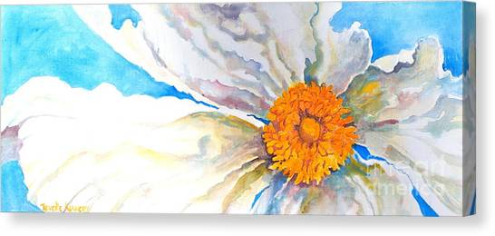Floating  Poppy Canvas Print by Reveille Kennedy