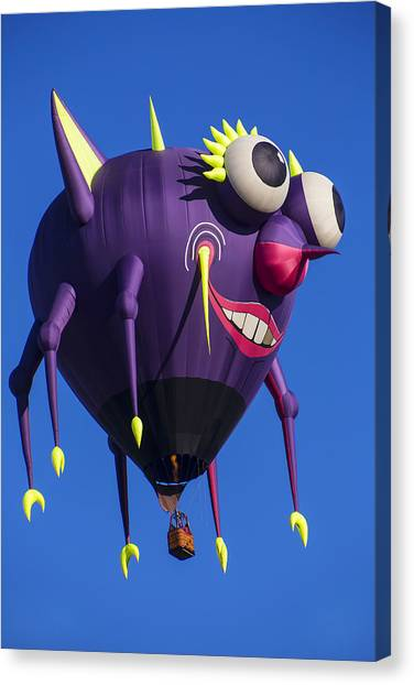 Ballooning Canvas Print - Floating Purple People Eater by Garry Gay