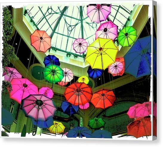Floating Umbrellas In Las Vegas  Canvas Print