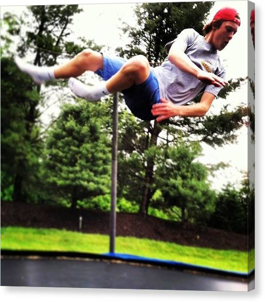 Trampoline Canvas Print - Floating With @chris_perna by Matthew Kaiser