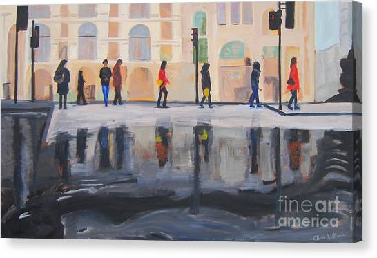 Flood In The City Canvas Print