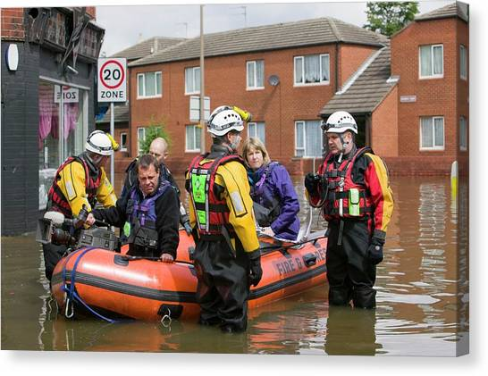 Flooding Canvas Print - Flooding by Ashley Cooper