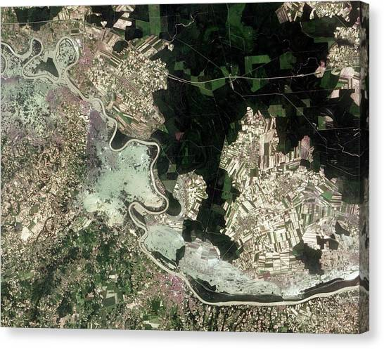 Flood Canvas Print - Flooding In The Balkans by Nasa Earth Observatory