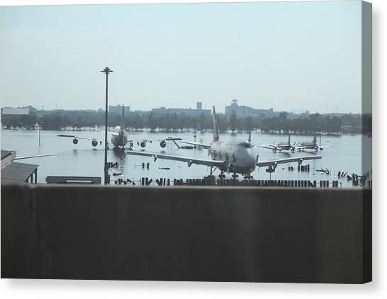 Season Canvas Print - Flooding Of The Airport In Bangkok Thailand - 01135 by DC Photographer