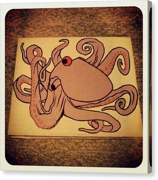 Octopus Canvas Print - Flooding Your Insta-feed With #wip by J Decker