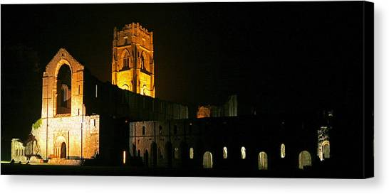 Floodlit Fountains Abbey Canvas Print