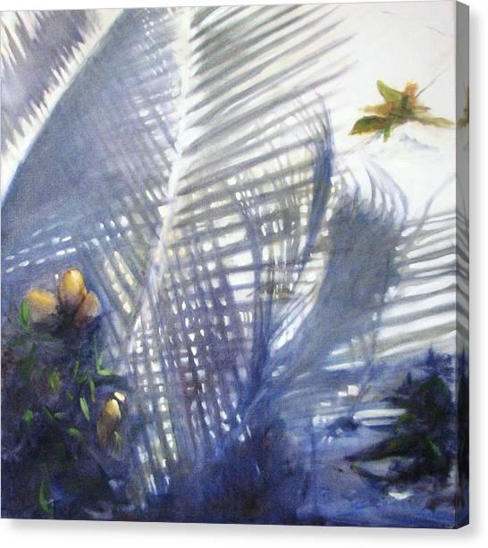 Mango Tree Canvas Print - Floor Shadows by Podi Lawrence