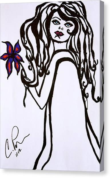 Flor De Amber Canvas Print