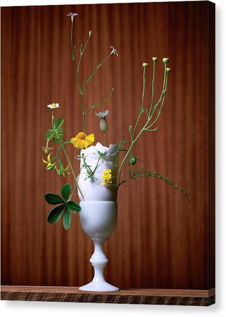 Vase Of Flowers Canvas Print - Floral Arrangement By Eve Suter by Jonathan Kantor