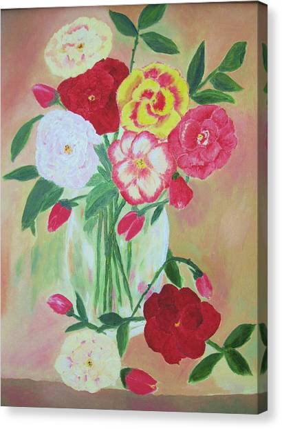 Floral Bouquet Canvas Print by Edna Fenske