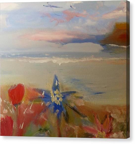Floral Delight At Blue Bird Bay Canvas Print