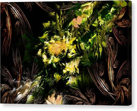 Canvas Print - Floral Expression 020215 by David Lane