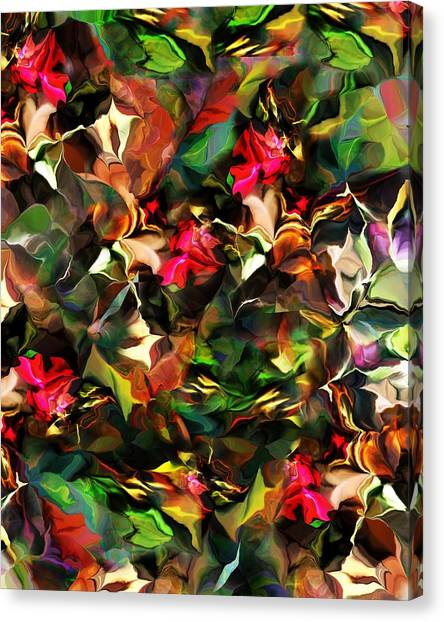 Canvas Print - Floral Expression 121914 by David Lane