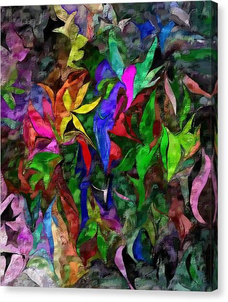 Canvas Print - Floral Fantasy 012015 by David Lane
