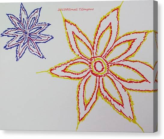 Simplistic Canvas Print - Floral Joy  by Sonali Gangane