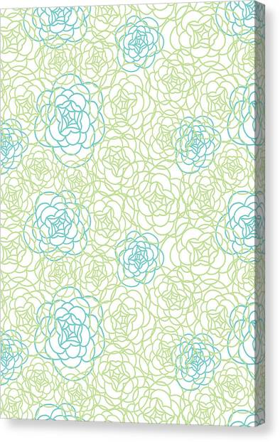 Decorative Canvas Print - Floral Lines by MGL Meiklejohn Graphics Licensing