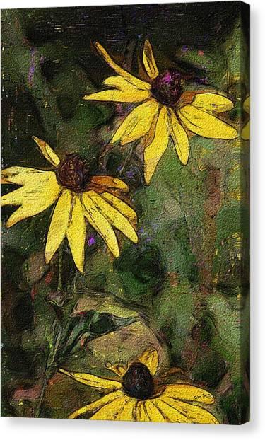 Canvas Print - Floral Sketch 022614 by David Lane