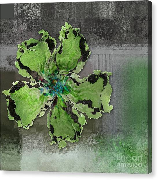 Floral Digital Art Canvas Print - Floralart - 0404 Green by Variance Collections