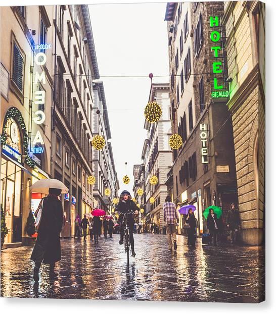 Rain Canvas Print - Florence by Cory Dewald