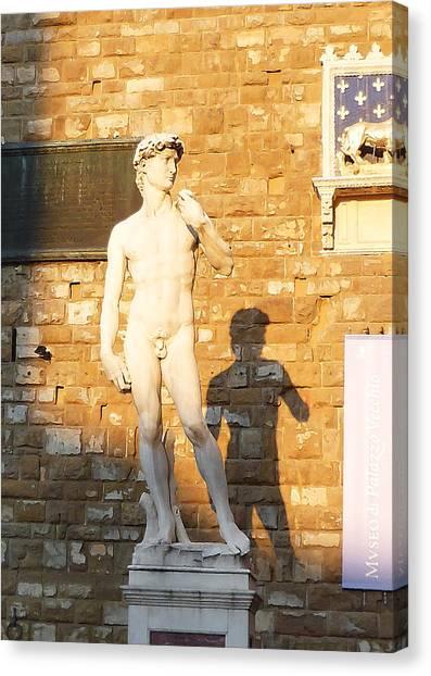 Michelangelo Canvas Print - Florence Italy Michelangelo David Replica by Irina Sztukowski