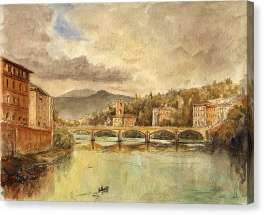 Italian Canvas Print - Florence by Juan  Bosco