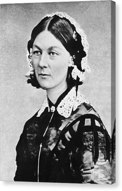 Women Only Canvas Print - Florence Nightingale by Underwood Archives