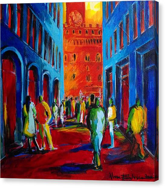 Romanesque Art Canvas Print - Florence Sunset by Mona Edulesco