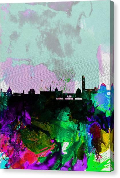 Florence Canvas Print - Florence Watercolor Skyline by Naxart Studio