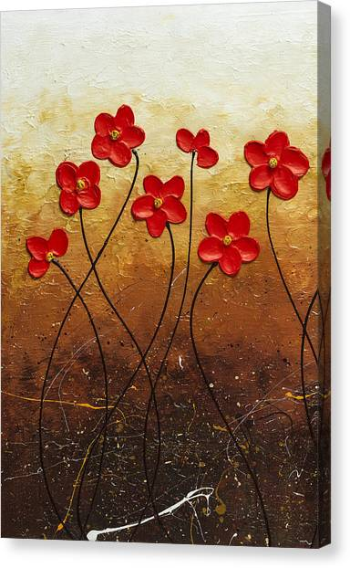 Flores De Mi Jardin 1 Canvas Print