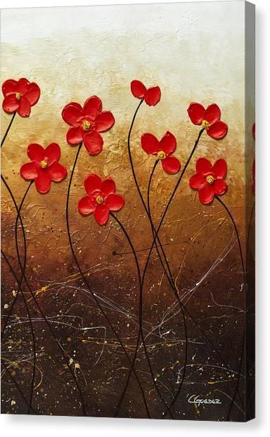 Flores De Mi Jardin 3 Canvas Print