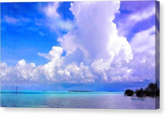 Florida Bay At Shell Pass Filtered Canvas Print