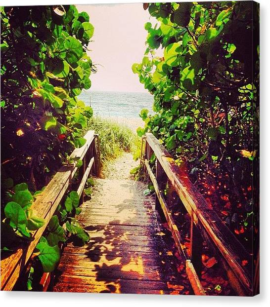 Jupiter Canvas Print - #florida #beach #ocean #follow #love by Eddie Vanderwerff