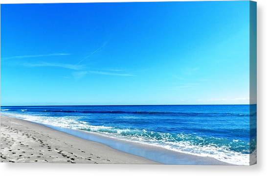 Florida Beach Canvas Print by Yvonne Aguero