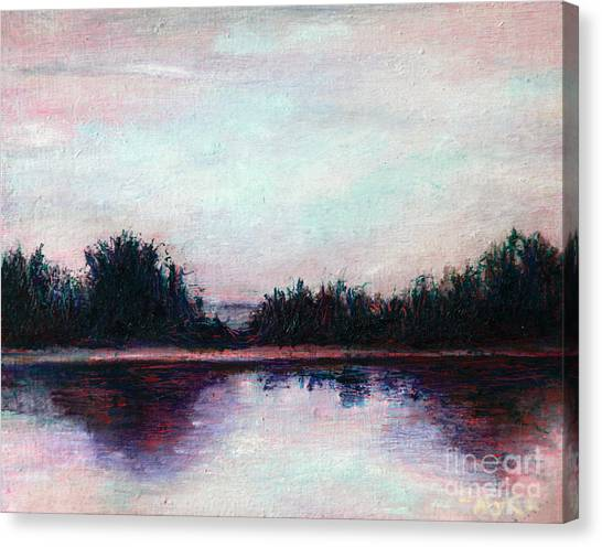 Florida Canal Canvas Print