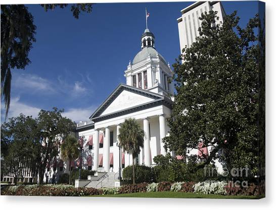 Florida Capital Building Canvas Print by Ules Barnwell
