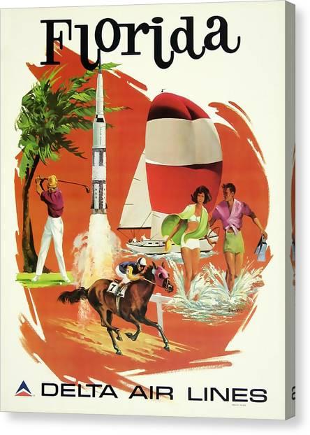 Florida Delta Airlines Canvas Print