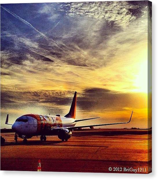 Jet Canvas Print - Florida One Getting Ready To Head To by Brian Lea