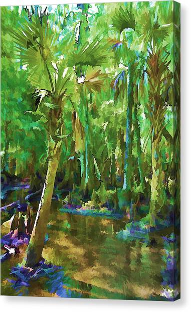Florida Palms Canvas Print