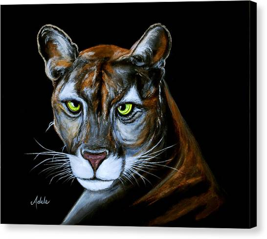 Florida Panthers Canvas Print - Florida Panther Jeremiah by Adele Moscaritolo