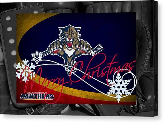Florida Panthers Canvas Print - Florida Panthers Christmas by Joe Hamilton